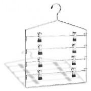 Organize It All 0300W-B 4-Tier Swing Arm Slack Rack, Chrome