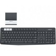 Logitech 920-008175»3 Logitech K375s RF Wireless + Bluetooth QWERTY Español Grafito, Color blanco teclado