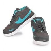World WEAR Footwear Men Gray Blue Lace-up Casual Shoes For Men