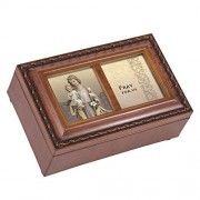 St. Jospeh Wood Finish Small Jewelry Music Box Plays We Have a Friend in Jesus by Cottage Garden