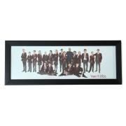 12x5 Brushed Black Photo Frame
