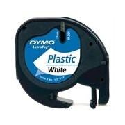 Dymo fita de plástico 91201 (S0721610) branca 12mm x 4m