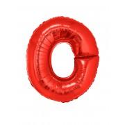 Vegaoo Bokstaven O - Aluminiumballong i rött 102 cm One-size