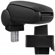 Подлакътник [pro.tec]® Audi 80 B3 + B4 / Audi 80 Cabrio / Audi 90 с контейнер за съхранение текстил /Черен