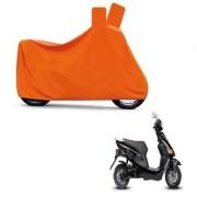 Kaaz Full Orange Two Wheeler Cover For Electric Cruz
