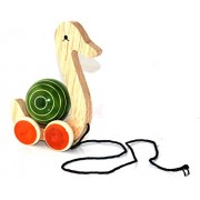Simple Days Wooden Pull Along Toy with Rotating Ball - Duck