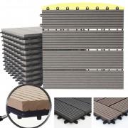WPC Bodenfliese Rhone, Holzoptik Balkon/Terrasse, 11x je 30x30cm = 1qm ~ Variantenangebot