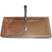 Mosdókagyló természetes kőből - IDS 005 YELLOW