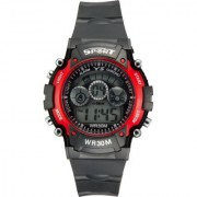 7 Light Red time (Syn-rd) digital watches for mens.