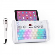Auna DiscoFever 2.0 Sistema de karaoke Bluetooth LED multicolor disco Reproductor CD-/CD+G (KS1-Discofever 2 WH)