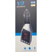 V3 Bluetooth szivargyújtós FM transmitter/MP3 lejátszó