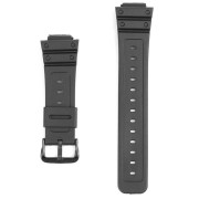 16mm Replacement Black Rubber Watch Band For CASIO