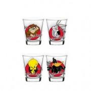 Copos de Shot Personagens Looney Tunes - 4 Unidades