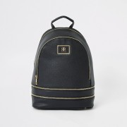 River Island Womens Black zip backpack (One Size)