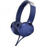 hifi over ear slušalice Sony MDR-XB550AP preko ušiju slušalice s mikrofonom plava boja