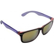 Joe Black Rectangular Sunglasses(Golden)