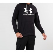Under Armour Sportstyle Terry Logo Hoodie Black