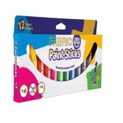 Brian Clegg Fabric Paint - 12 Fabric Paint Sticks. Heat- fix by ironing. Washable up to 60C. 12 assorted colours.