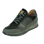 Australian Browning Leather - zwart,grijs - Size: 46