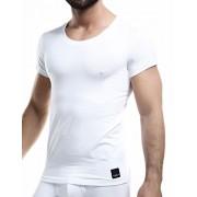 Cut For Men C4M Solid Crew Neck Short Sleeved T Shirt White C4M06