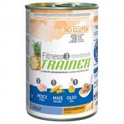 Trainer Fitness 3 Adult Medium/Maxi con pescado y maíz - 12 x 400 g - Pack Ahorro