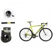 Paquete Bicicleta Alubike R700 Citroen Team Candado Timbre Y Bomba