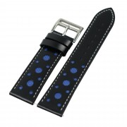 Holes Decor Leather Smart Watch Band Strap Replacement for Huawei Watch GT 2e /GT2 46mm - Blue