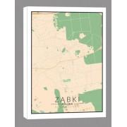 Ząbki mapa kolorowa - obraz na płótnie