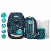Ergobag Pack Special Edition Mochila escolar con accesorios 6pz. incl. Klettie-Set blubbbär petrol türkis