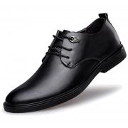 Zapatos De Vestir Formal O Boda De Ecocuero Y Cordón Para Hombre - Negro