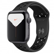 Watch, Apple Nike Series 5 GPS, 44mm Space Grey Aluminium Case with Anthracite/Black Nike Sport Band (MX3W2BS/A)