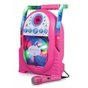The Singing Machine The Singing Machine Portable Karaoke System with LED Disco Lights and Wired