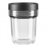 KitchenAid Extra Behållare 200 ml till K400 Blender Minichopper Svart/Klar