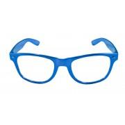 Moderne bril blauw metallic