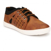 Shoe Rider Men's Brown Synthetic Leather Casual Shoes