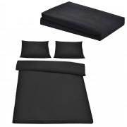 Комплект спално бельо [neu.haus]® плик (200x200cm), чаршаф (180-200x210cm) , калъф за възглавници, Черен
