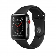 Умные часы Apple Watch Series 3 Cellular 42mm Stainless Steel Case with Sport Band MQK92 Black (Черный)