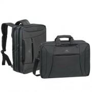 Notebook táska, hátizsákká alakítható, 16, RIVACASE Central 8290, fekete (NTR8290B)