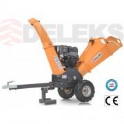 štiepkovač DELEKS DK-800 KOHLER do 8 cm 14HP motorom. Profesionálne použitie.