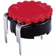 Buton moletat Piher pentru PT 15 N, roșu