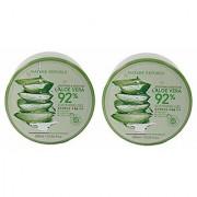Nature Republic Soothing Moisture Aloe Vera 92% Gel Natural Skin Care Pack of 2