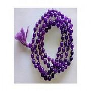 Purple Sulemani Hakik Beads Mala Natural Unheated & Untreated Agate Mala Jaipur Gemstone