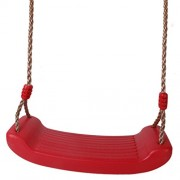 Phenovo Heavy Duty Hard Plastic Swing Seat with Rope Set Kids Outdoor Fun Play Red