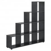 Дизайнерски стъпаловиден шкаф/етажерка 138 x 142 x 29cm, Сив