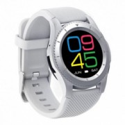 Ceas Smartwatch Techstar and reg DT No.1 G8 MTK2502 Bluetooth 4.0 SIM Notificari Monitorizare Puls Culoare Alb