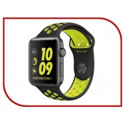Умные часы APPLE Watch Series 2 Nike+ 42mm Space Grey Aluminum Case with Black-Volt Nike Sport Band MP0A2RU/A