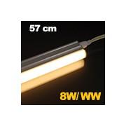 LED fénycső , T5 , 8W , 57 cm , sorolható , meleg fehér