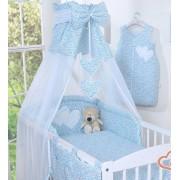 My Sweet Baby 3-Delig Bedset Two Hearts Voile/Katoen Bloem/Blauw