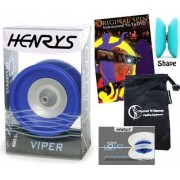 Henrys YoYo's Henrys VIPER YoYo Professional Ball Bearing YoYo +Instructional Booklet of Tricks + 75 Yo-Yo Tricks DVD & Travel Bag! Pro YoYos For Kids and Adults!