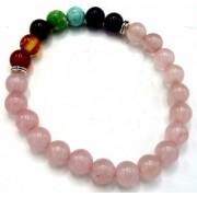 Bratara 7 chakra cuart roz - Iubire neconditionata si echilibru emotional